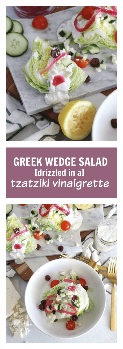 Greek Wedge Salad With A Tzatziki Vinaigrette Low Carb Casa De Crews
