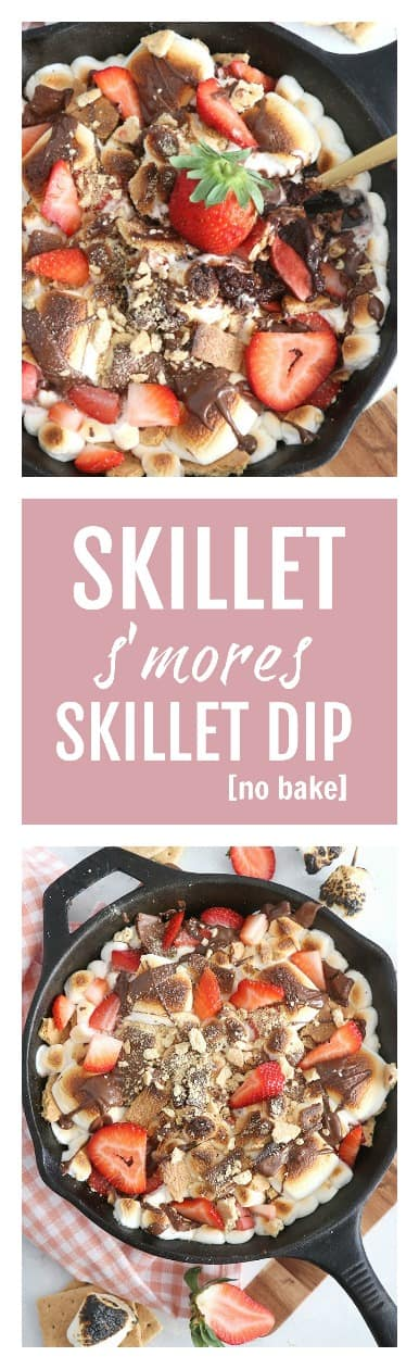 Strawberry S'mores Skillet Dip