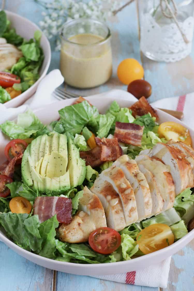 Chicken BLT Salad with a Dijon Vinaigrette