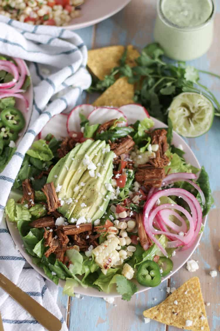 Shredded beef braised with a spicy blend of cumin, chipotle powder, garlic and oregano. This barbacoa is great protein for all of your Mexican inspired meals, made in your favorite pressure cooker!