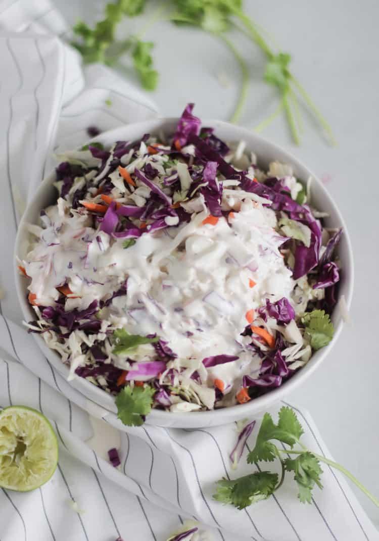 Cilantro Lime Coleslaw recipe #lowcarb #keto #coleslaw