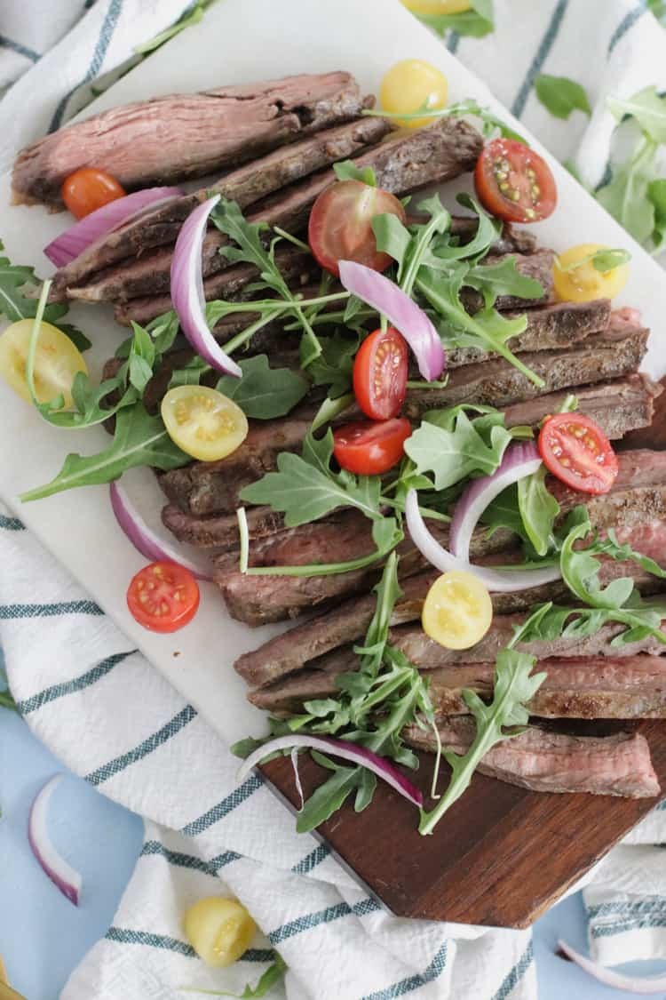 Sometimes tough, this juicy flank steak becomes tender, melt-in-your-mouth delicious with the a little help using the sous-vide method. Never have tough steak again!