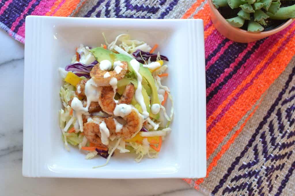 Mango Jicama Shrimp Taco Bowls #paleo #whole30 #tacos