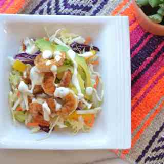 Mango Jicama Shrimp Taco Bowls