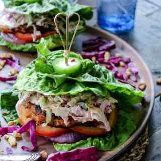 Grilled Jerk Chicken Burgers #whole30 #keto #paleo