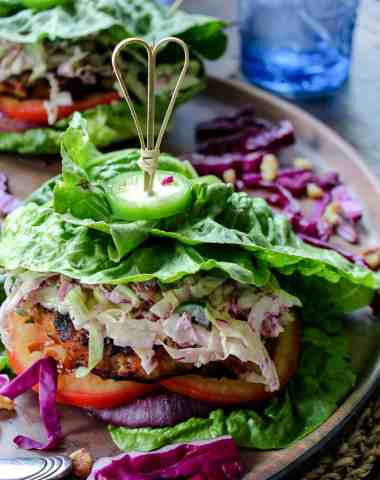 Grilled Jerk Chicken Burgers #whole30 #keto #paleo