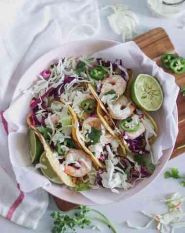 chili lime cilantro shrimp tacos