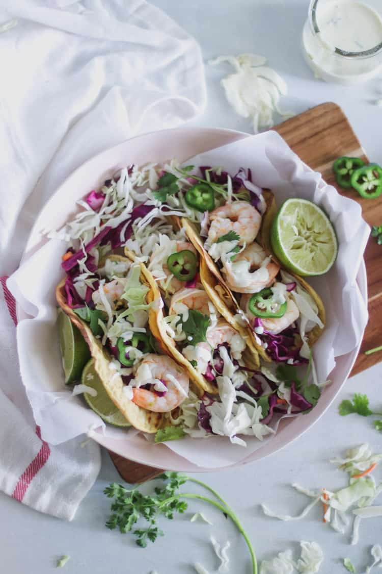 Chili Lime Shrimp Plantain Tacos