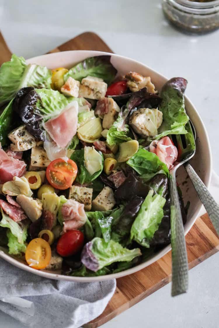 Chopped Chicken Antipasto Salad