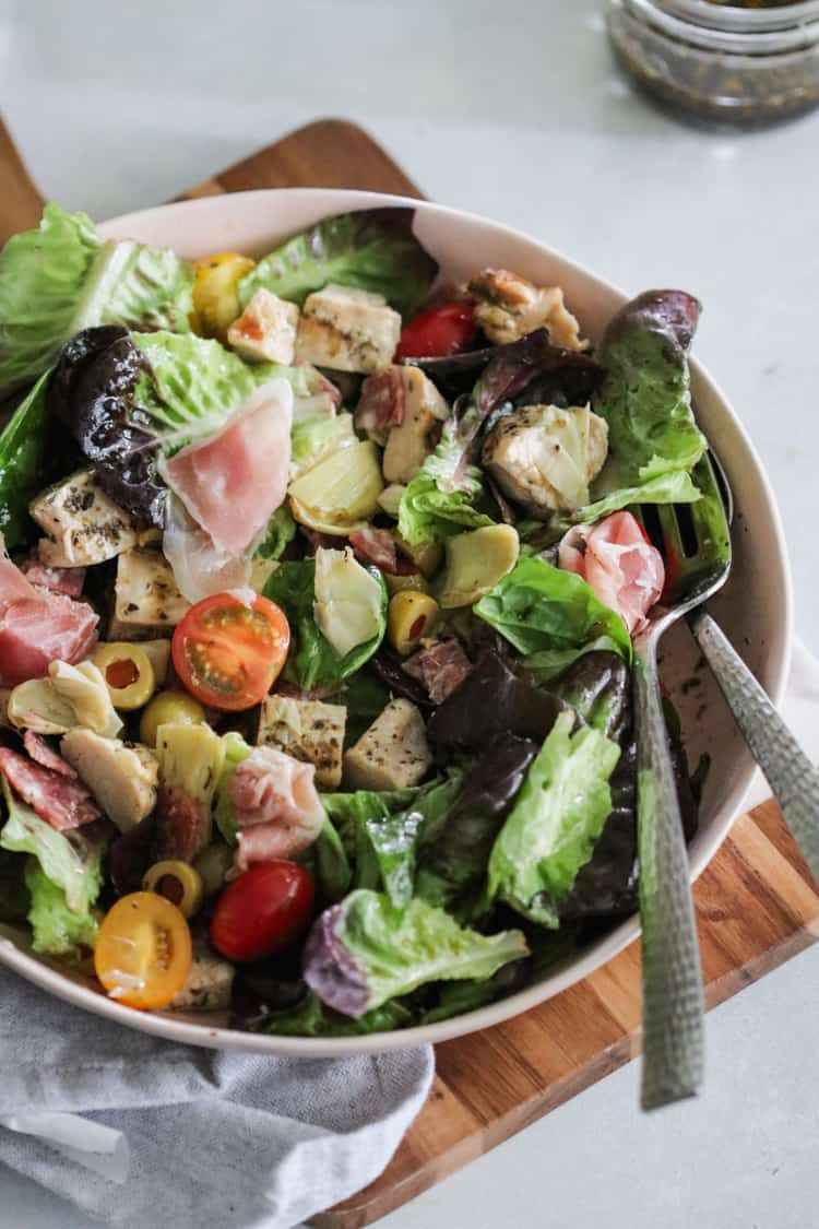 Chopped Chicken Antipasto Salad