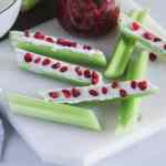 Goat Cheese and Pomegranate Stuffed Celery