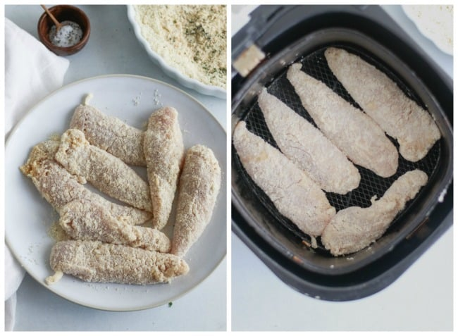 whole30 buffalo chicken tenders air fryer [keto, paleo, gf]