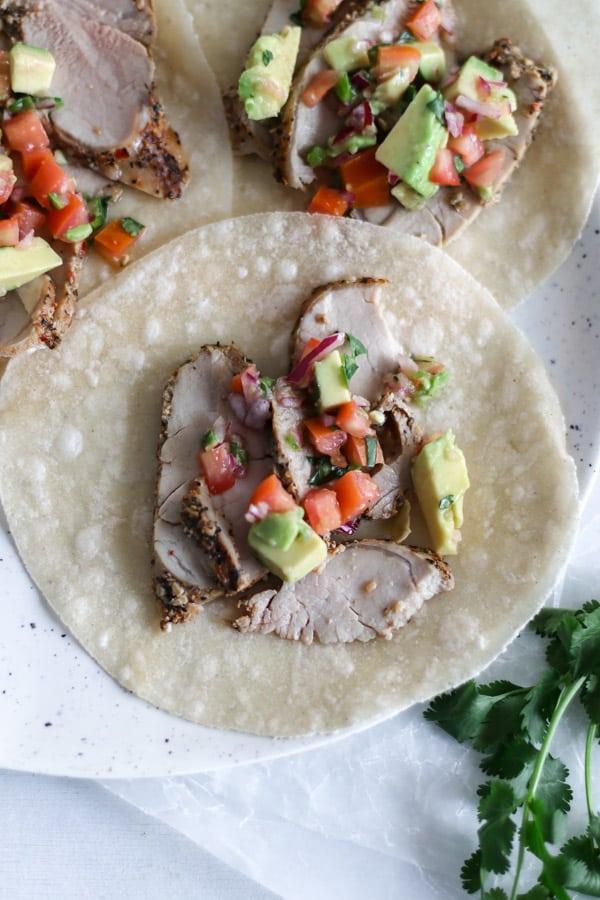 pork tenderloin tacos
