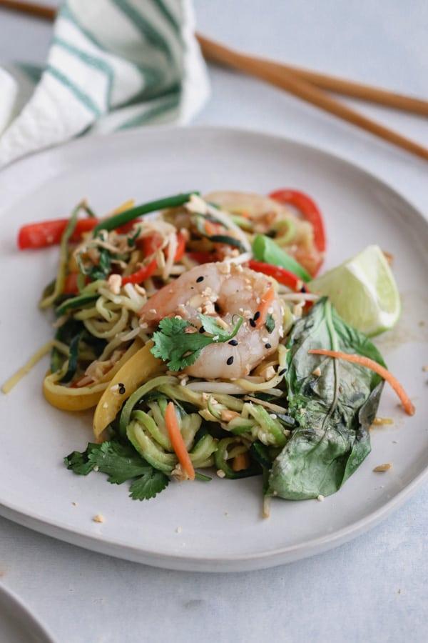 whole30 shrimp pad thai
