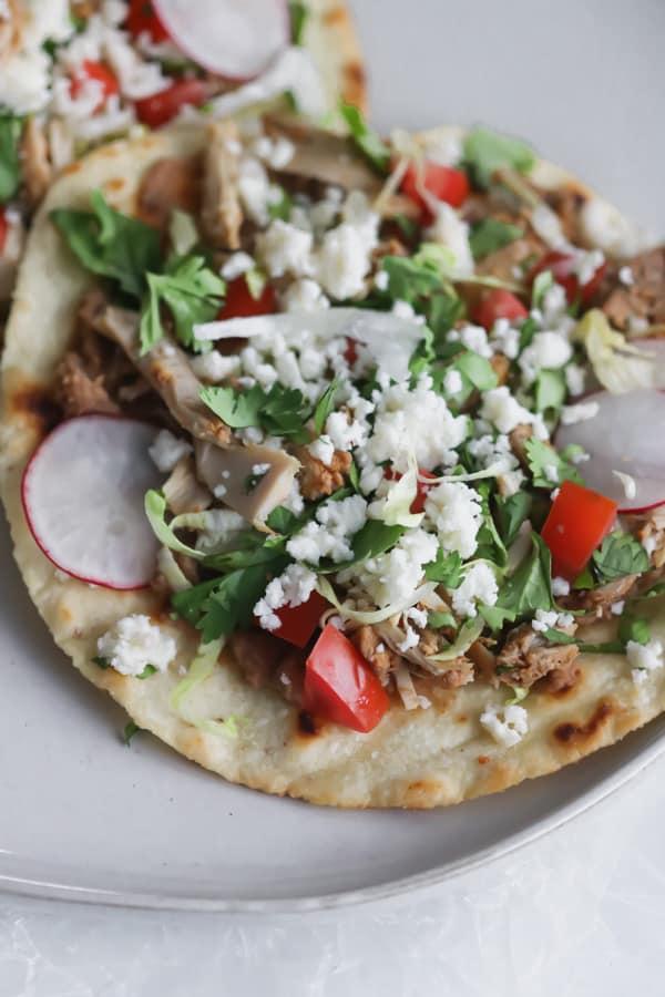 easy chicken tostadas