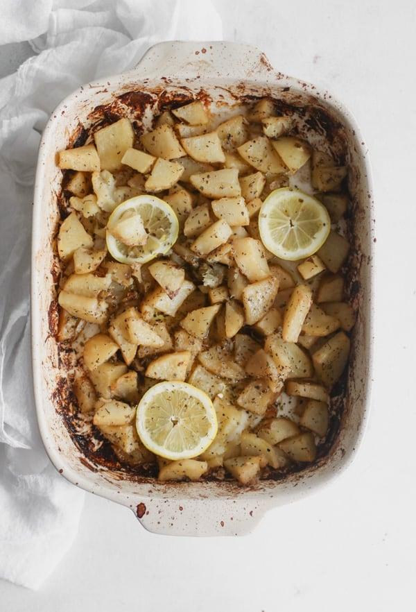 whole30 greek lemon potatoes