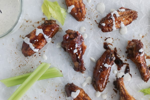 whole30 teriyaki chicken wings in the air fryer