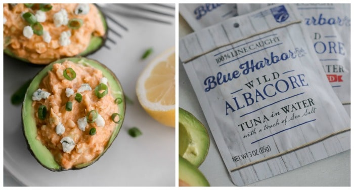 Buffalo Tuna-Stuffed Avocado