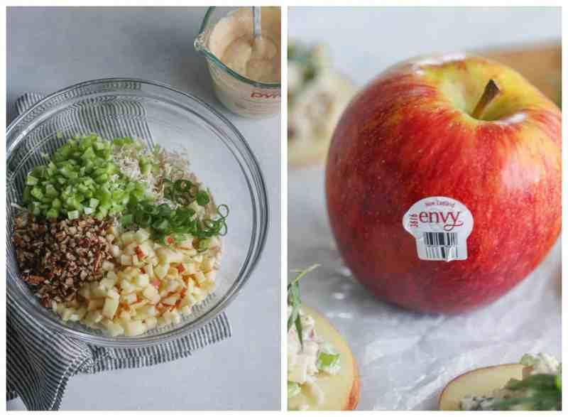apple tarragon chicken salad bites