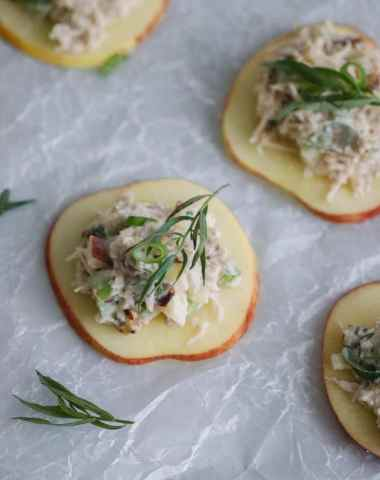 apple tarragon chicken salad bites