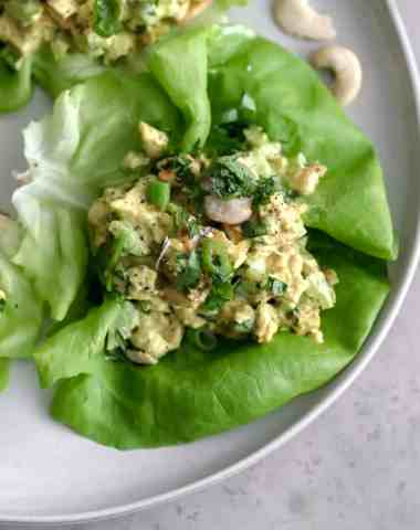 curried chicken salad [paleo, whole30, keto, dairy-free]