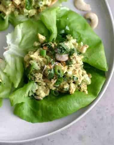curried chicken salad [paleo, whole30, keto, dairy-free]