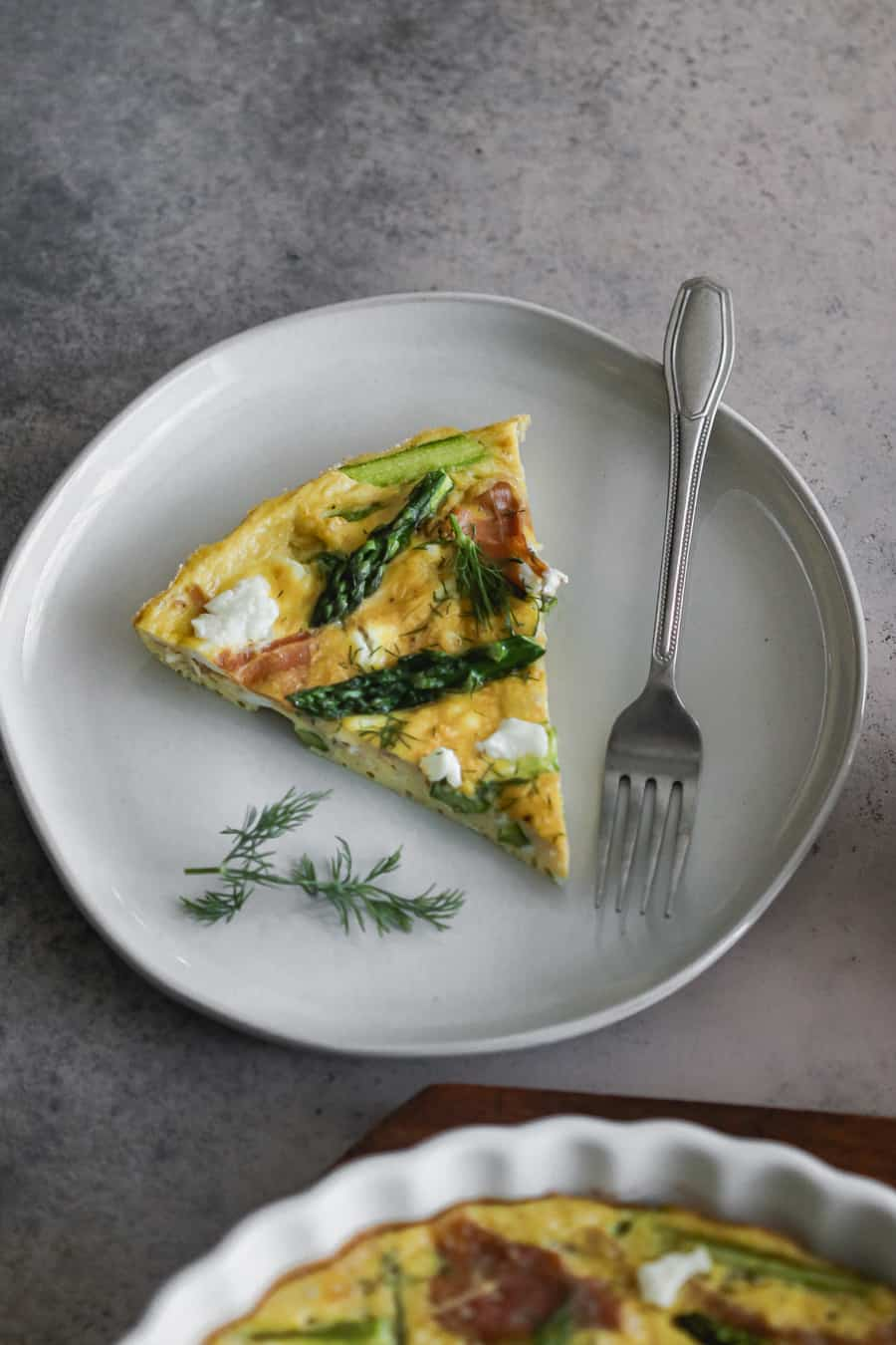 Asparagus and Prosciutto Baked Frittata Casserole
