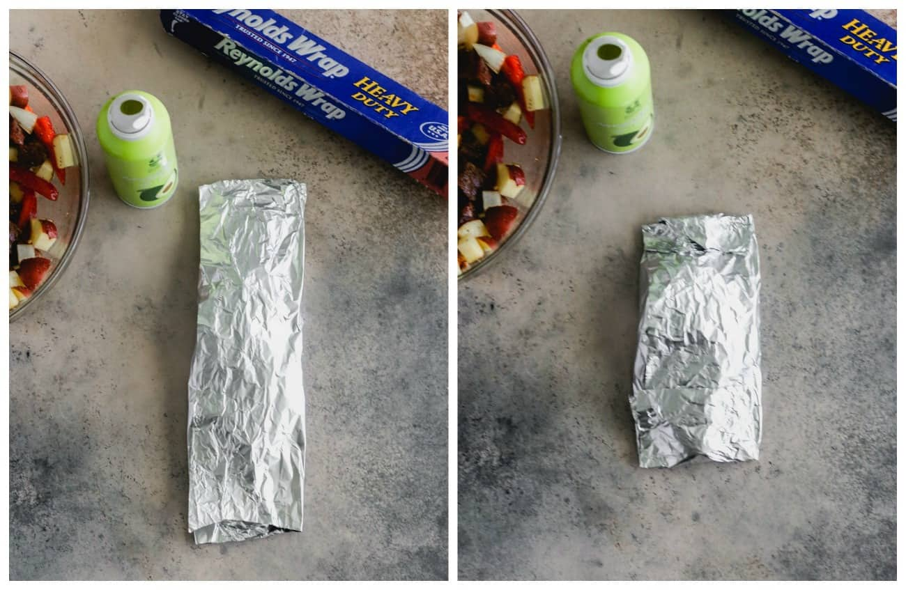 how to fold Foil packets on the grill