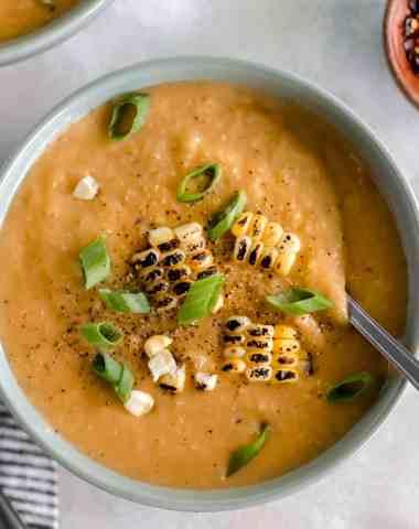 Instant Pot Chipotle Corn and Cauliflower Chowder