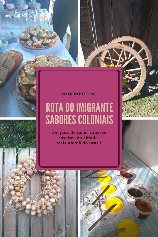 Rota do Imigrante Sabores Coloniais