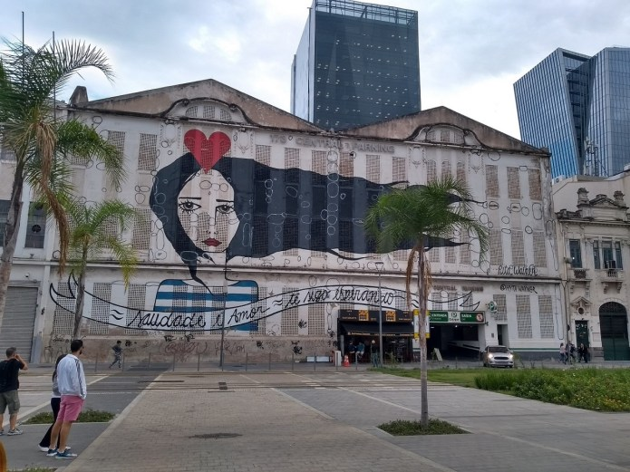Mural da artista Rita Wainer