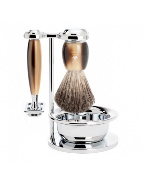 Mühle set barbear pincel +máquina+taça Série Vivo