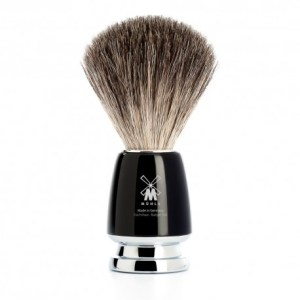 Mühle pincel barbear texugo cinza Série Rytmo -preto