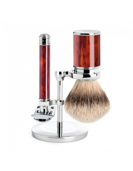 Mühle set barbear – gilete+pincel e suporte