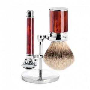 Mühle set barbear - gilete+pincel e suporte