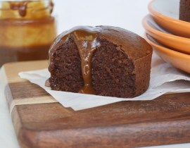 Fudgy Brownies Recipe with Salted Caramel Sauce