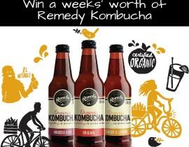 Win a weeks worth of Remedy Kombucha