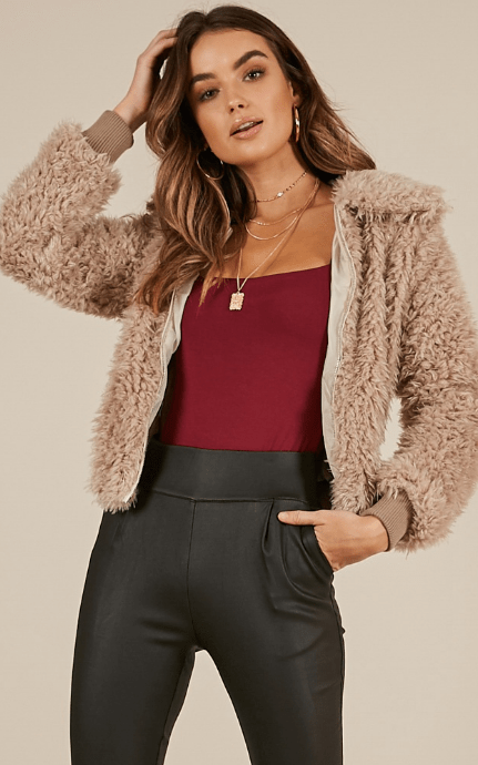 shaggy fur coat online