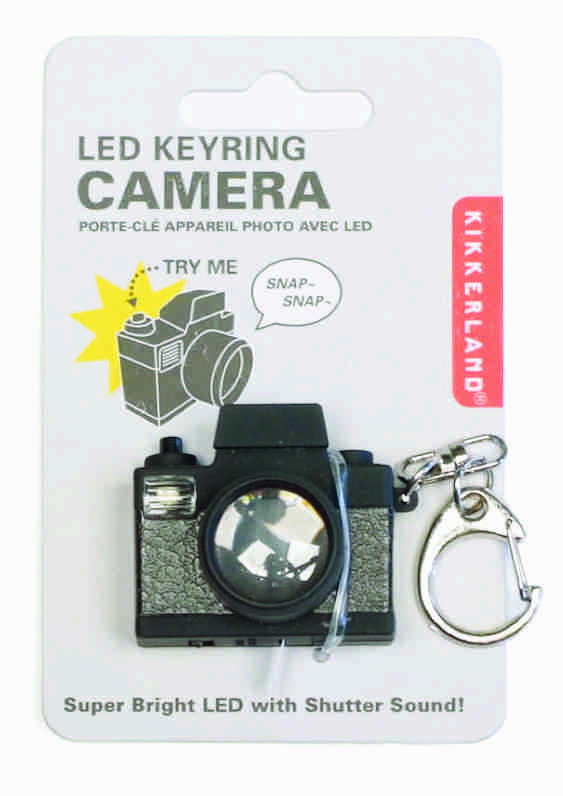 Porta chiavi sonoro e luce LED macchina fotografica