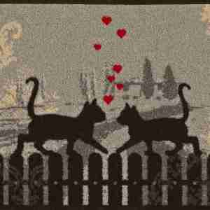 Tappeto Wash+dry Kleen-tex  Cats in love cm.50x75