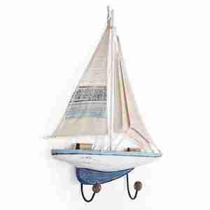 Attaccapanni barca a vela 2 ganci in ferro