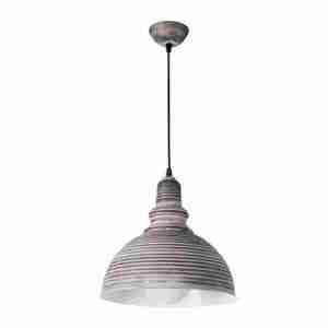 Lampadario campana vintage ondulata grigio scuro Montemaggi