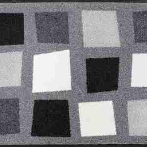 Tappeto Wash+dry Kleen-tex  Boxpark grey cm.50x75