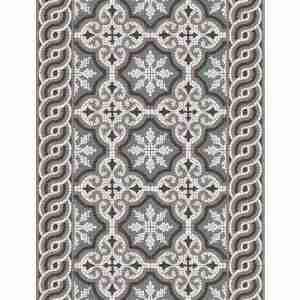Tappeto vinile Beija Flor decoro Mountain mosaic TS2-M cm.80x200