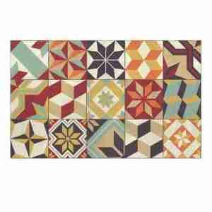 Tappeto vinile Beija Flor decoro Eclectic EG10-C multic.cm.60x80
