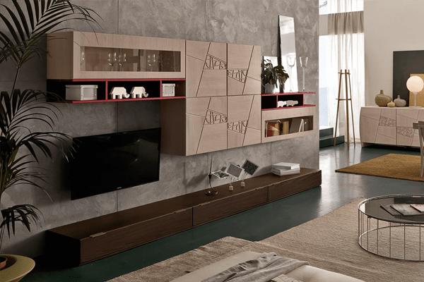 Parete giorno con base a terra. Arredamento Living Soggiorno E Pareti Attrezzate Casa Design