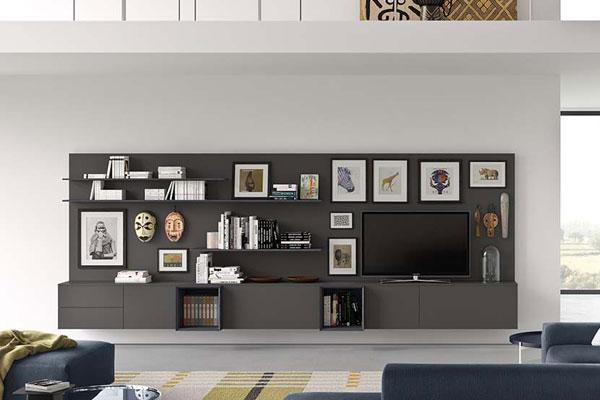 Gli arredi devono ricreare un'ambientazione di fascino e accoglienza in casa: Arredamento Living Soggiorno E Pareti Attrezzate Casa Design