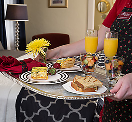 in-room breakfast for two
