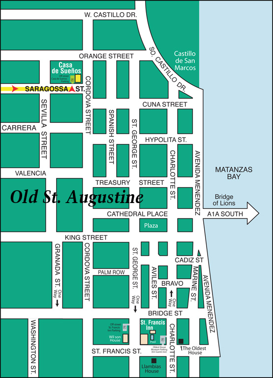 Map to Casa de Suenos