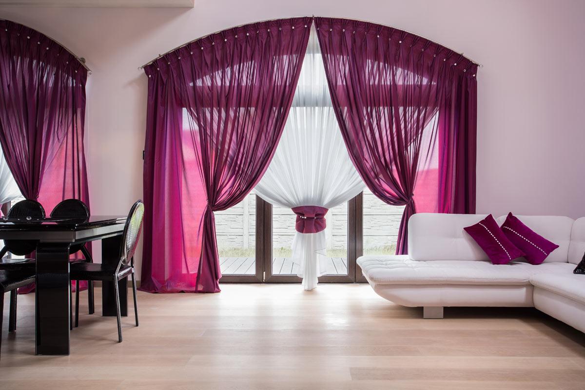 Tende per il soggiorno cucina; Tende Moderne In Soggiorno 8 Magnifiche Idee Di Arredamento